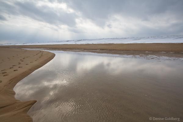 reflections in tide pools, Parker River National Wildlife Refuge
