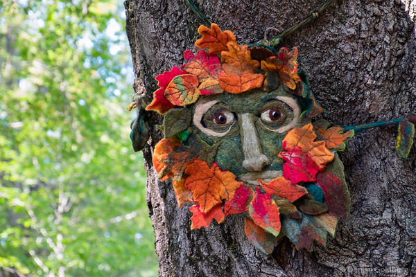Autumnal Green Man, by Sue Gately