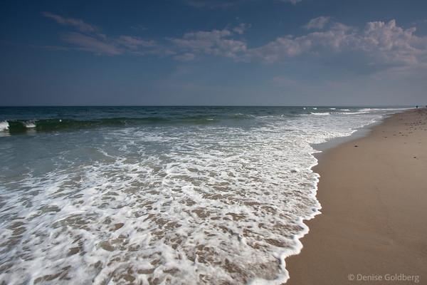spreading waves, wet feet
