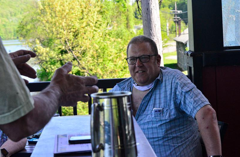 KRISTOPHER RADDER — BRATTLEBORO REFORMER<br /> Some Brattleboro, Vt., restaurants open their doors for outdoor eating on May 22, 2020.