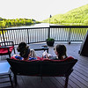KRISTOPHER RADDER — BRATTLEBORO REFORMER<br /> Sara and Kelsey Lolatte enjoy a drink at the Whetstone's Bier Garten, in Brattleboro, Vt., as restaurants in Vermont were allowed to open up their outdoor seating area on Friday, May 22, 2020.
