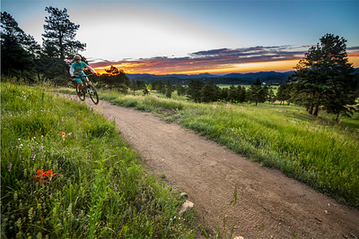 Mountain Biking at Sunrise