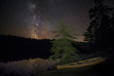 Canoe Camping Under the Galaxy