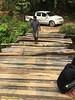 Repairing the log bridge.