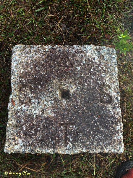 The border stone.
