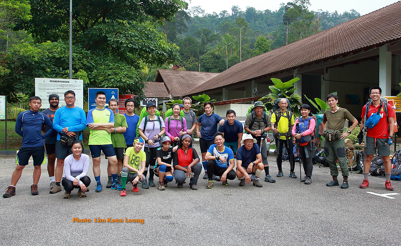Group photo at the park before trekking starts