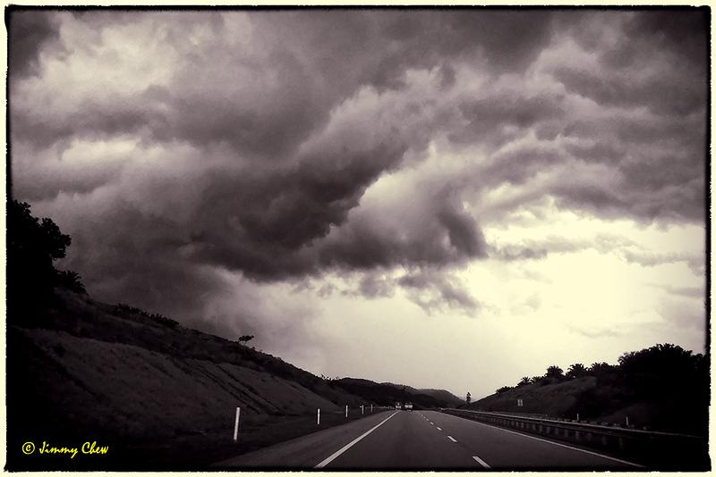Dark clouds hovering