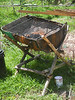 BBQ pit. Users need to bring their own wire net, firestarter and charcoals and utensils. The are 2 sets nearby the kitchen. They are at no extra cost under the kitchen package.