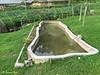 Man-made pond.