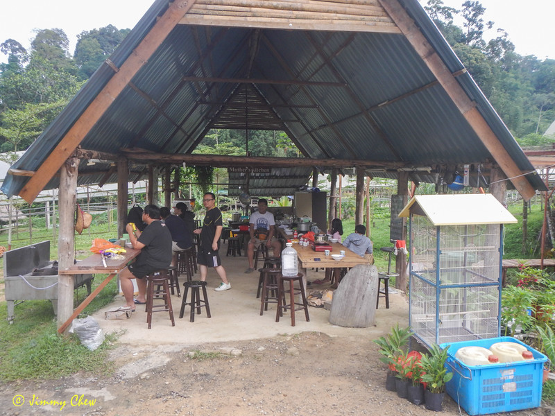 Kitchen cum dining - called Mother's Kitchen. Visitors can cook here, and also cook using their own brought-along stoves.
