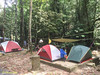 CJ's L-setup with Eng Hooi's tent at the far side (where the dog is).