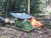Once again, Gary and my tents beside the river. Flysheet just for the tent entrance.