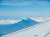 That's the destination - Mount Rinjani. By hiking, not parachuting!
