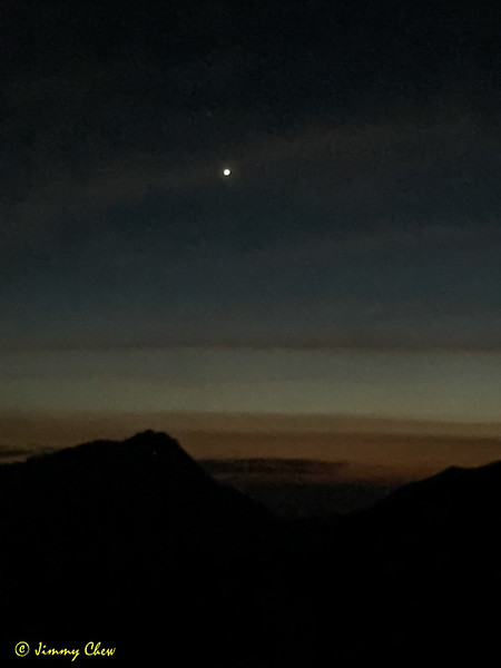 Approaching dawn. That's Venus.