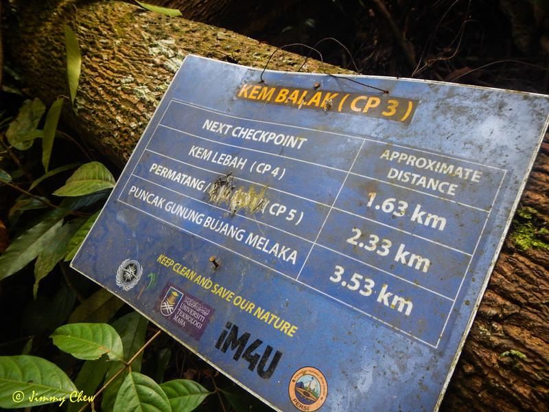 Kem Balak (CP3) signpost