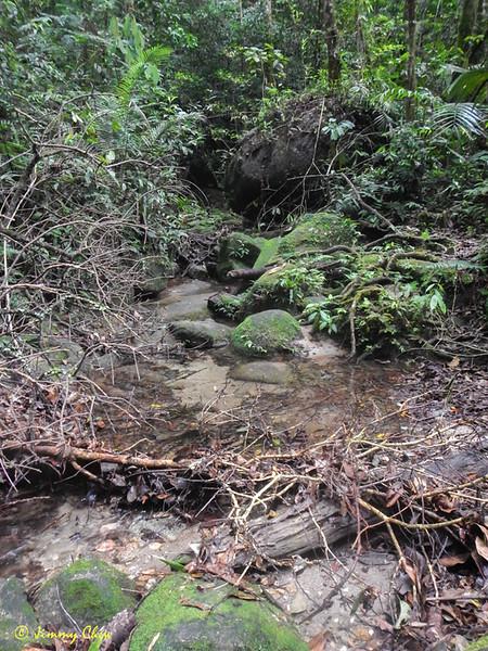 Water source at Kem Lebah (upper).