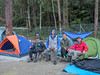 Fellow campers the day before the Beluat recce.