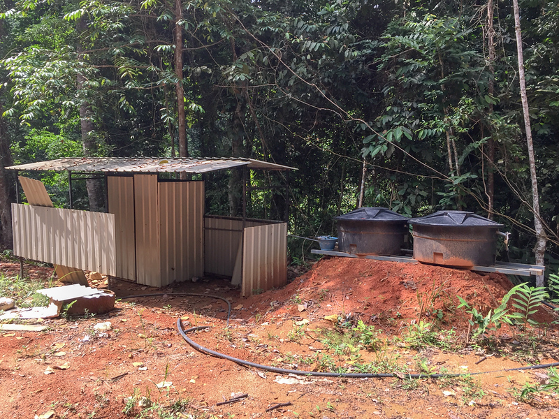 Water tanks and bathroom - not ready.