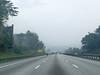 A misty drive to Tanjung Malim.