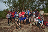 Group photo after crossing the stream. <br /> <br /> Photo credit: @jose