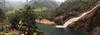 Berkelah pool as viewed from the top, big boulder.