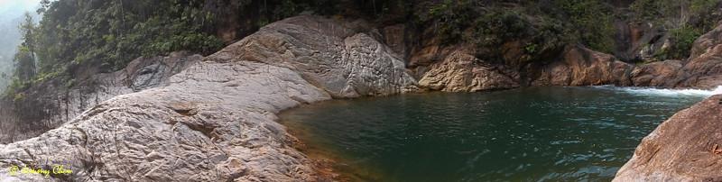 Panoramic view of secret pool no. 1.