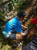 Filling up water at the boulder. Water is there but trickling. — with Tan Keng Heng.