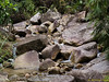 Lots of rocks and many stream paths  towards 'Y' junction of Sg Luit.
