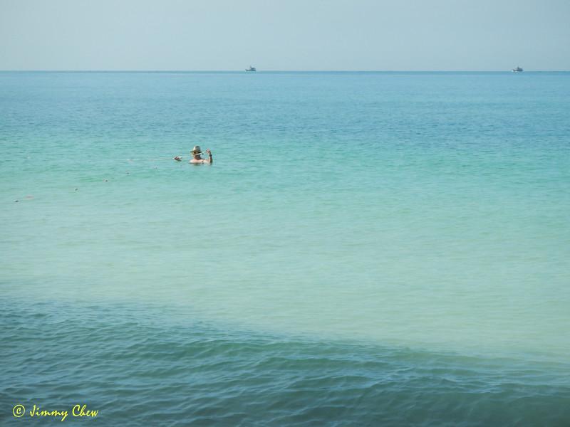This beach makes nice swimming.