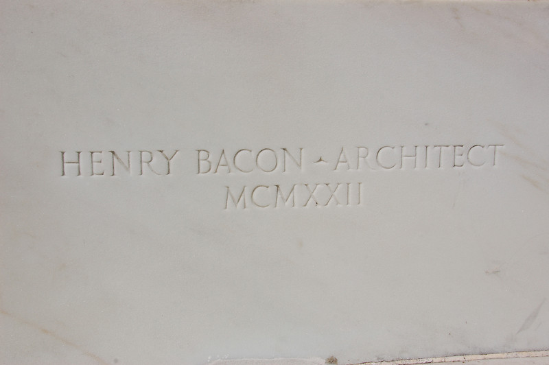Henry Bacon - Architect of Lincoln Memorial - MCMXXII - 1922