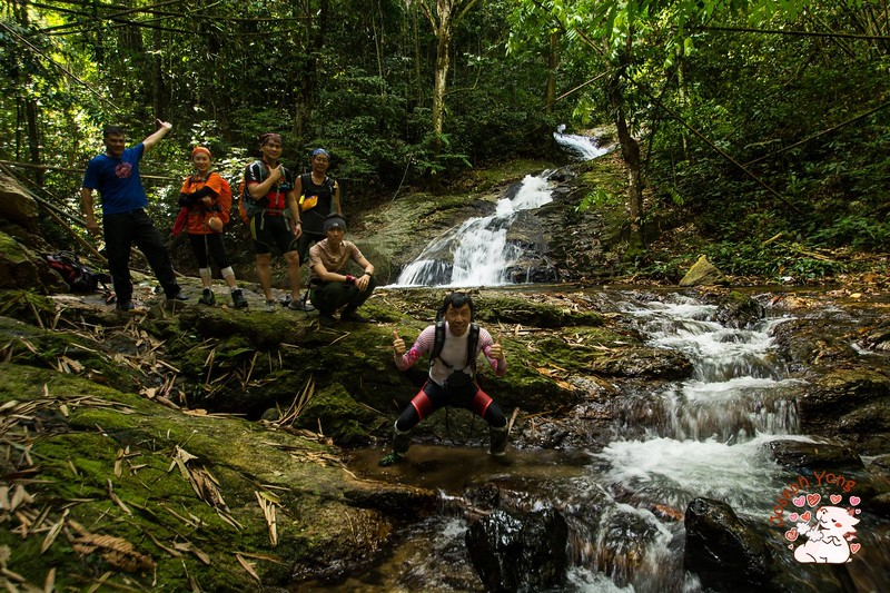 Group take at the waterfalls. That's all we went to.<br /> <br /> Photo credit: Joseph Yong