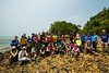 "Group photo at ""Treasure Hunters"" beach before settling down for lunch at Pulau Intan.<br /> <br /> Photo: Joseph Yong."