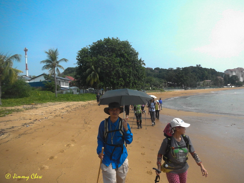 The walk begins from Pantai Cermin.