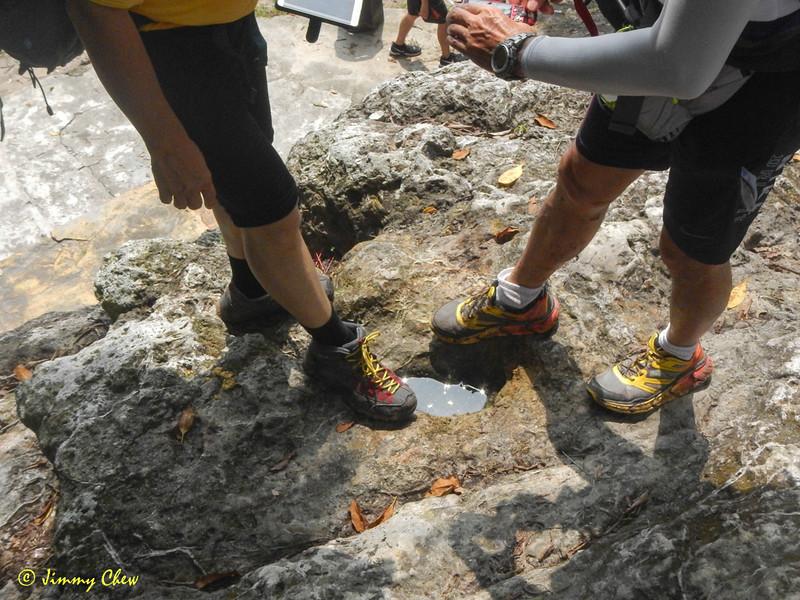 Footprint of Tuan Puteri Gunung Ledang.