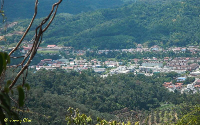 Bentong town as viewed from Bukit Tetek.