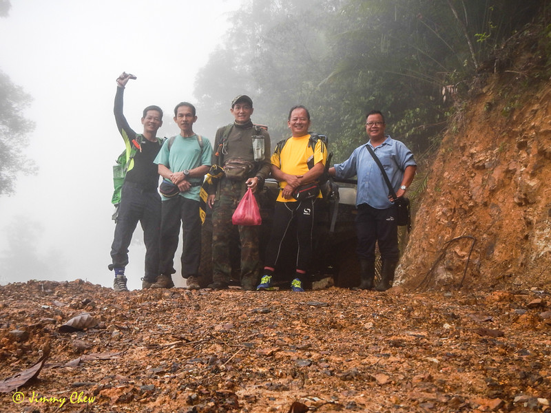 Group shot before Chee Leong's friend drives off and also start of hike.