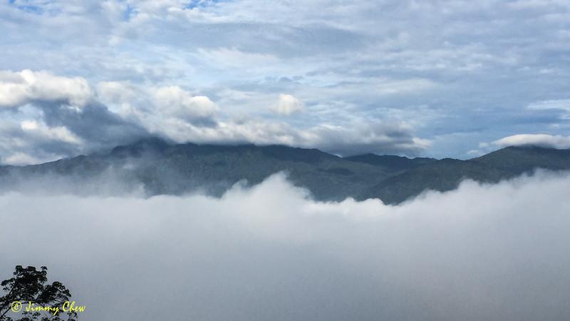 Rajah peak still hiding.