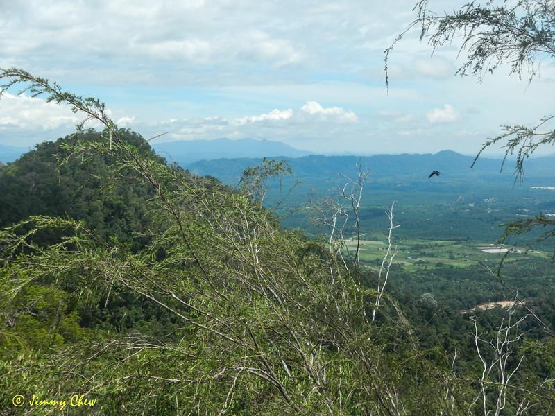 Mempaga view as seen from peak above Bukit Tetek.