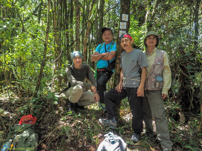 At Gunung Beluat peak 1,703 m (5,588 ft) - couldn't locate the trig station.