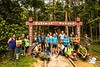 Group photo before the hike up Kanching Waterfalls and to Bukit Unyang.<br /> <br /> Photo credit: Joseph Yong