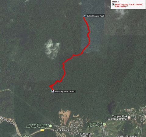 GPS tracklog plotted on Google Map. Overall distance is less than 3 km per way.<br /> <br /> GPS tracklog is not provided.