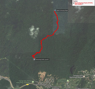 GPS tracklog plotted on Google Map. Overall distance is less than 3 km per way.  GPS tracklog is not provided.