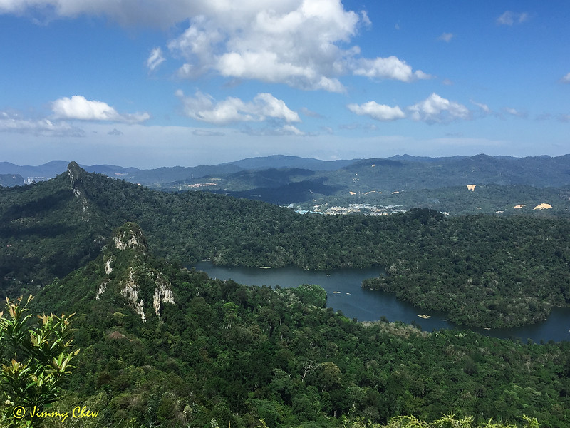 View of Tabur West, Tabur East, and Tabur Far East from Tabur Extreme.
