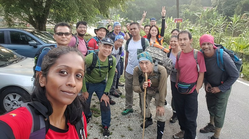 Wefie at the outer car park.<br /> <br /> Photo: Malathi