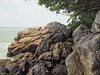 Clambering needed.<br /> <br /> #CapeRachado #TanjungTuan<br /> #cliff