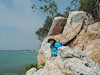 Arrived at the top of the cliff.<br /> <br /> #CapeRachado #TanjungTuan<br /> #cliff