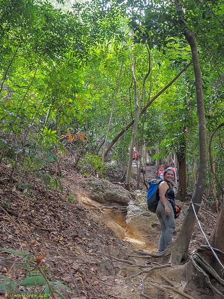 Posing at mid-way...<br /> <br /> #CapeRachado #TanjungTuan<br /> #BatuPutih