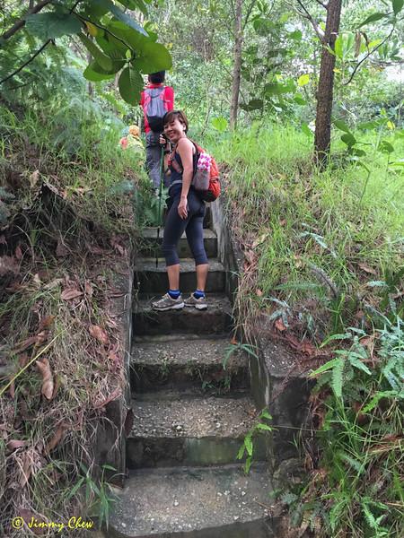 Start of uphill drain.