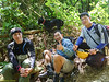 On the way down, met up with Taiping Goh at river crossing no. 3. With Basman.