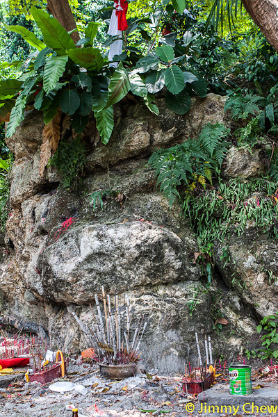 Altar beneath the Tuan Puteri Gunung Ledang Footprint.